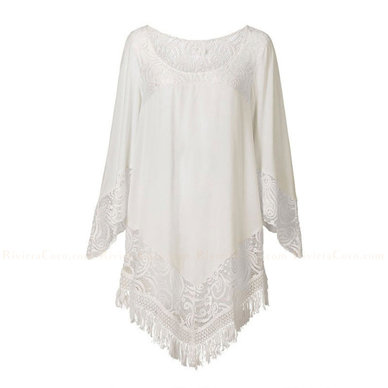 Long Sleeve Lace Tunic