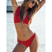 Marseille | Cute Flounces Red Cheeky Bottom Bikini