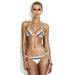 Mytros | Tide Side Triangle Black And White Bikini