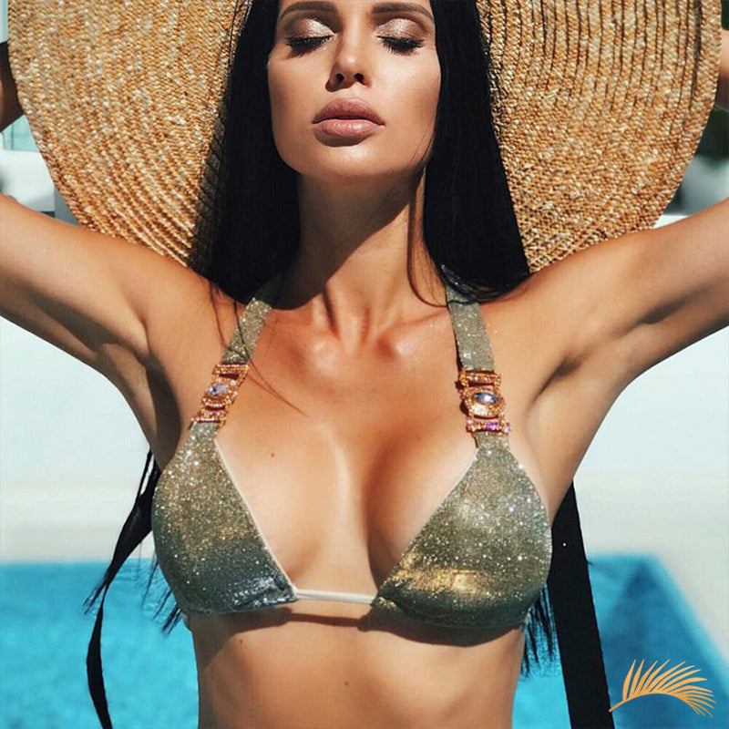 Naples | Ribbon Tide Metallic Rhinestone Bikini