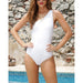 Navagio | Elegant One Shoulder Strappy One Piece Swimsuit
