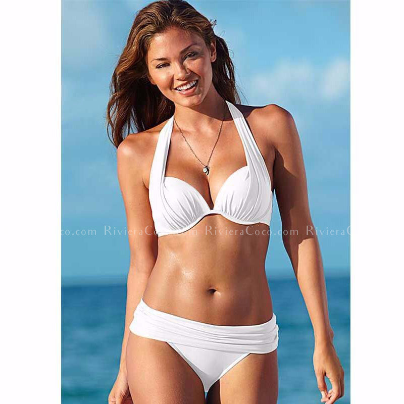Bondi Beach | Push Up Halter Draped Bikini
