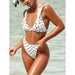 St Malo | Polka Dot Flounces High waist Cheeky Bikini