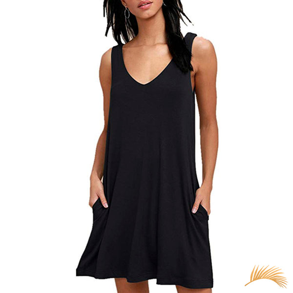 Simple Sleeveless Loose Dress