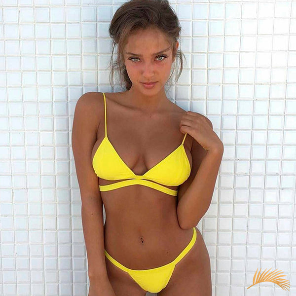 Tampa Bay | Sexy Little Yellow Cheeky Bikini