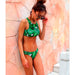 Thailand | Sport Crop Top Tropical Leaves Print Bikini