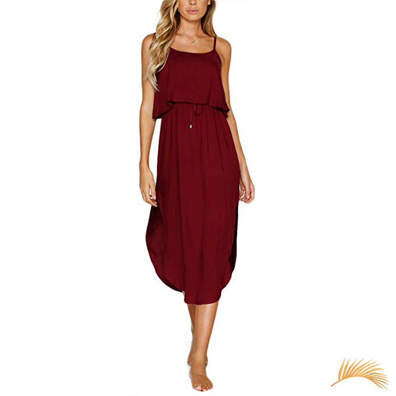 Tie-Waist Open Leg Dress