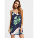 Leaves Print Midi Dress