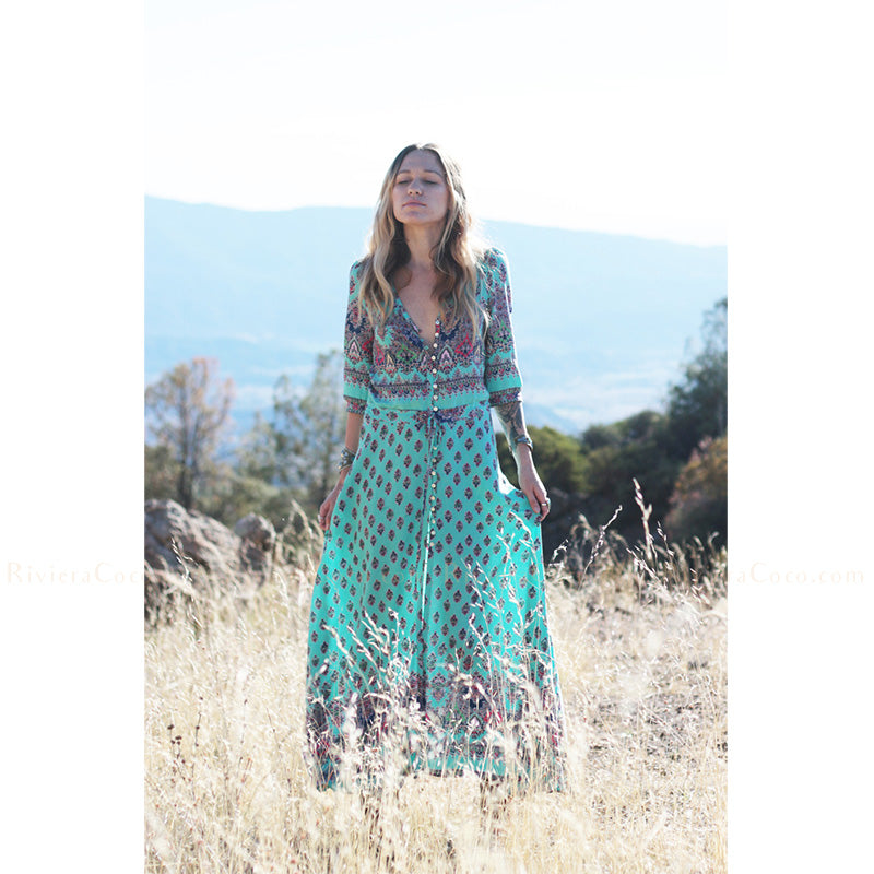 b0f88d99d7 Turquoise Beach Maxi Dress – Riviera Coco