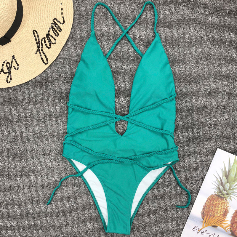 Ventura | String Multiway Deep V One Piece Swimsuit