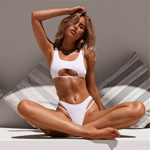 Virgin Islands | Sport Hollow Out Top  Bikini