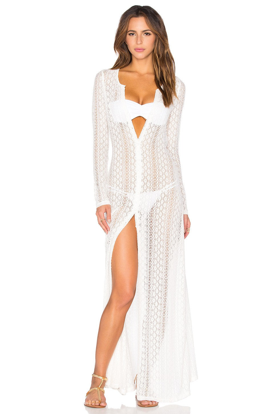 Lace Long Beach Cover Up