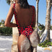 Oahu | Animal Print Backless One Piece Swimsuit