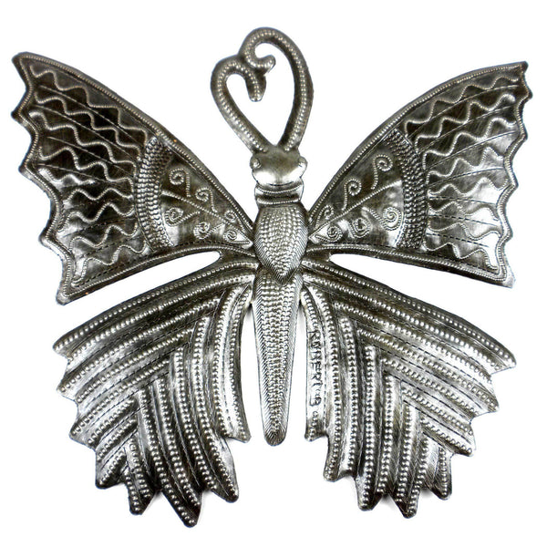 11-inch Butterfly Metal Art Handmade and Fair Trade