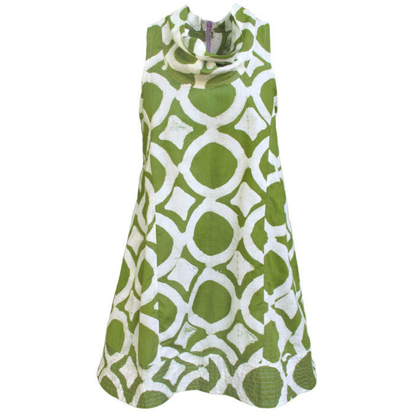 Women's Eli Dress Olive Fisheye - Global Mamas (W)