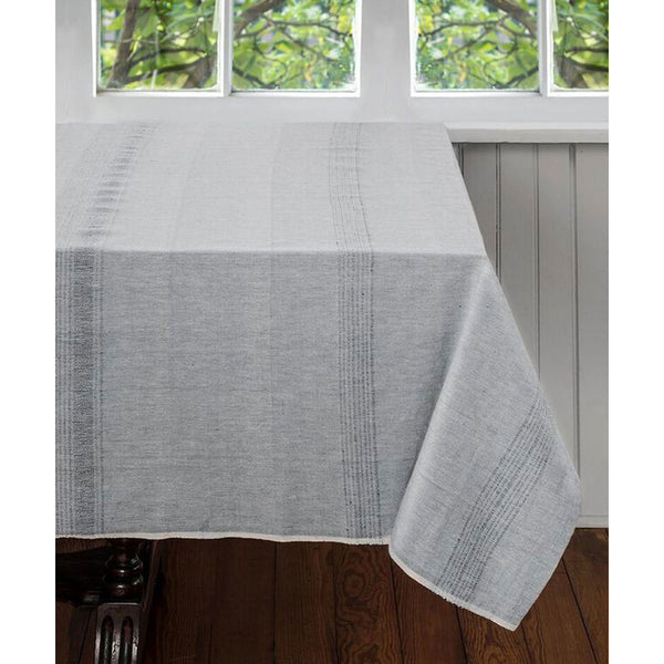 Salt and Pepper Cotton Tablecloth 60 by 60 - Sustainable Threads (L)