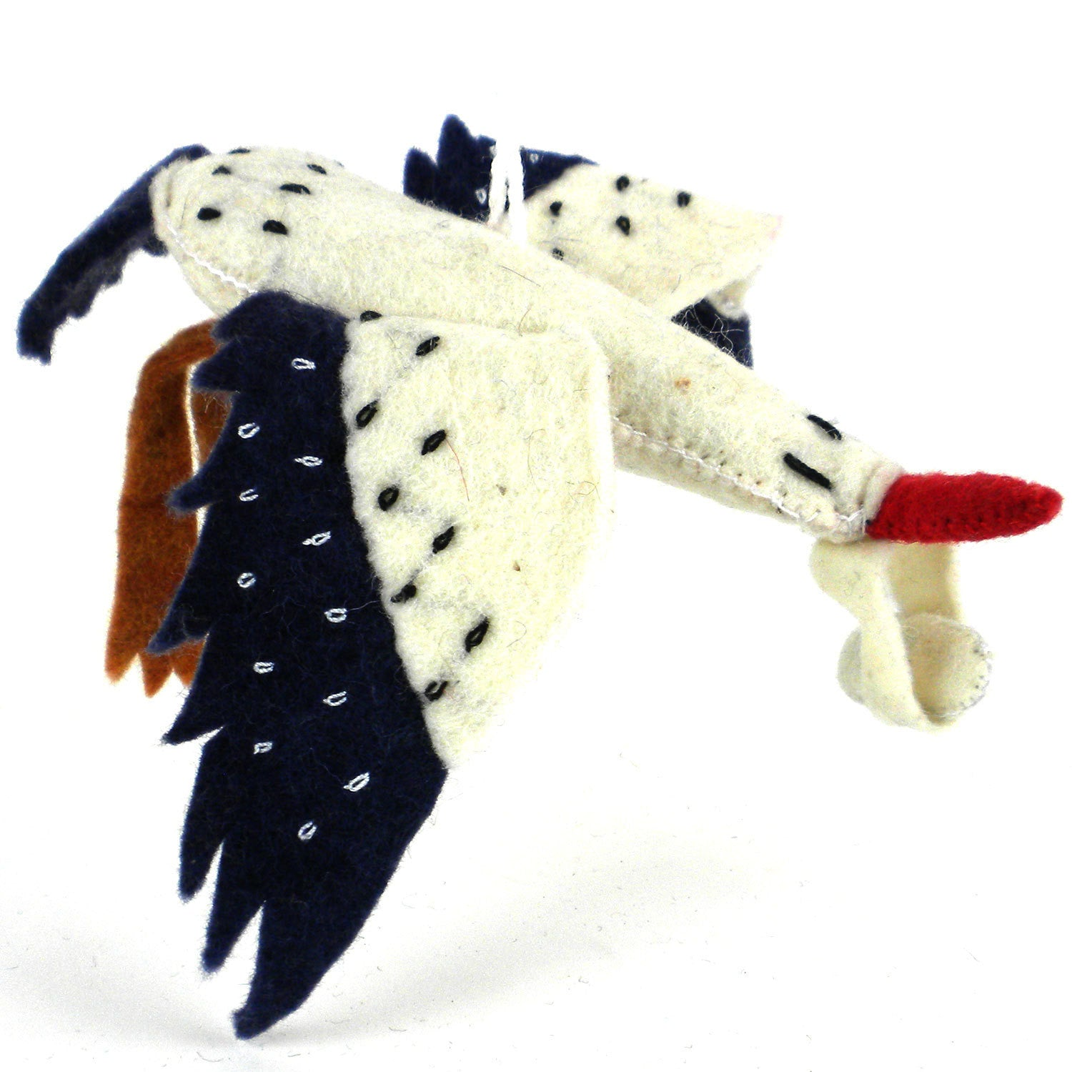 Stork Felt Holiday Ornament - Silk Road Bazaar (O)