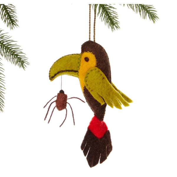 Toucan Felt Holiday Ornament - Silk Road Bazaar (O)