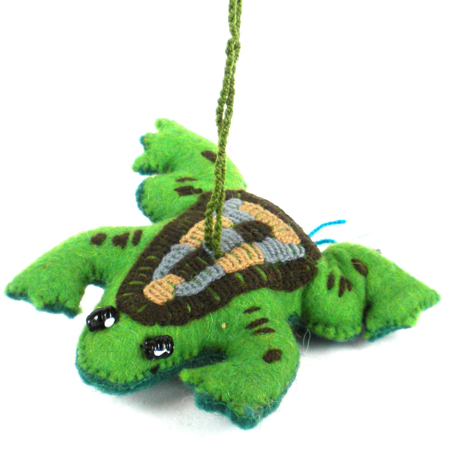 Frog Felt Holiday Ornament - Silk Road Bazaar (O)