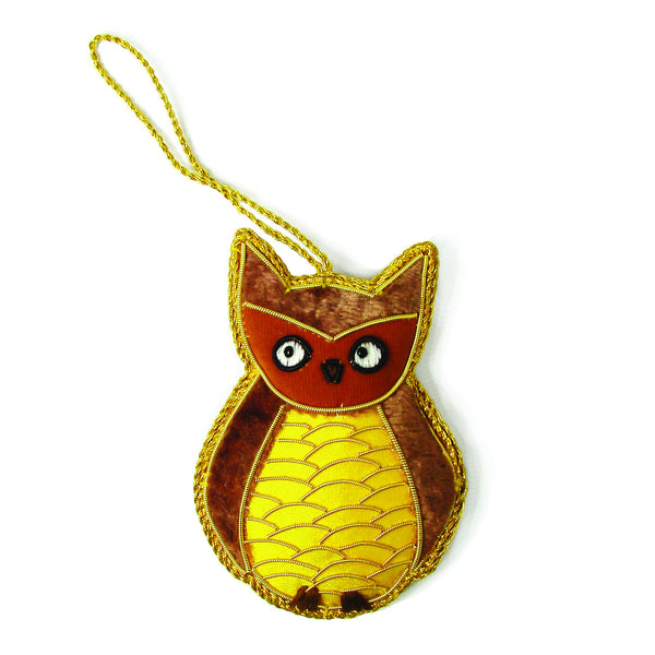 Woodland Owl Holiday Ornament - WorldFinds (H)