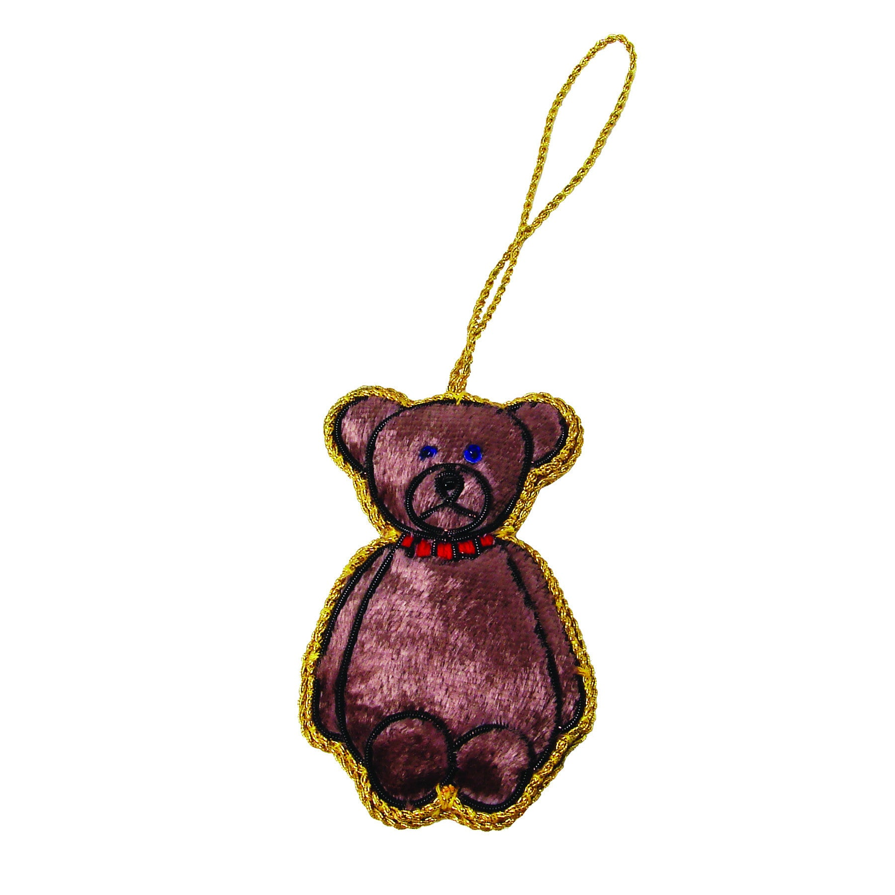 Teddy Bear Holiday Ornament - WorldFinds (H)