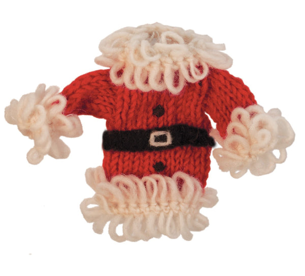 Wool Santa Coat Ornament - Wild Woolies (H)