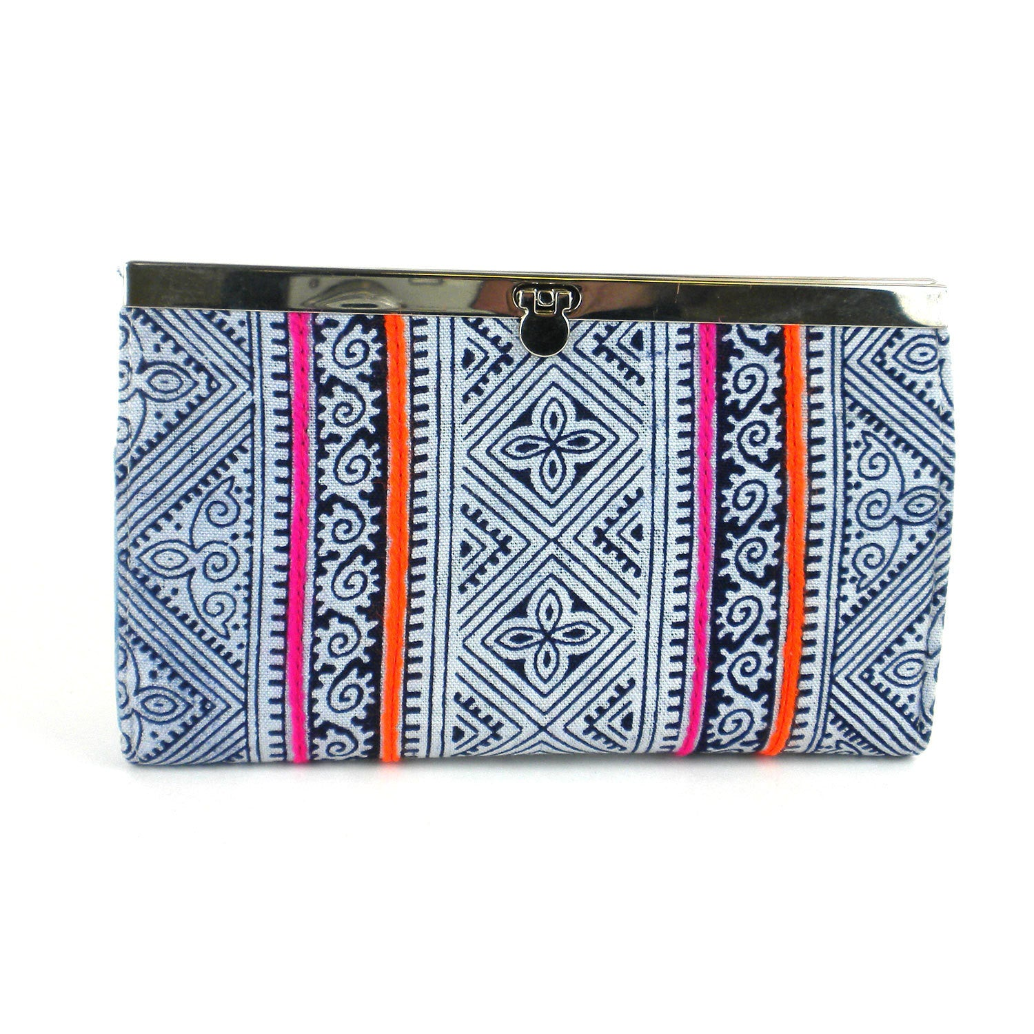 Indigo Ethnic Hmong Clutch - Global Groove (P)