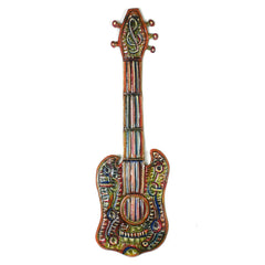 Painted Metal Guitar 16 inch - Croix des Bouquets