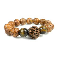 Bodhi Tiger's Eye Wrist Mala Bracelet - Global Groove (J)