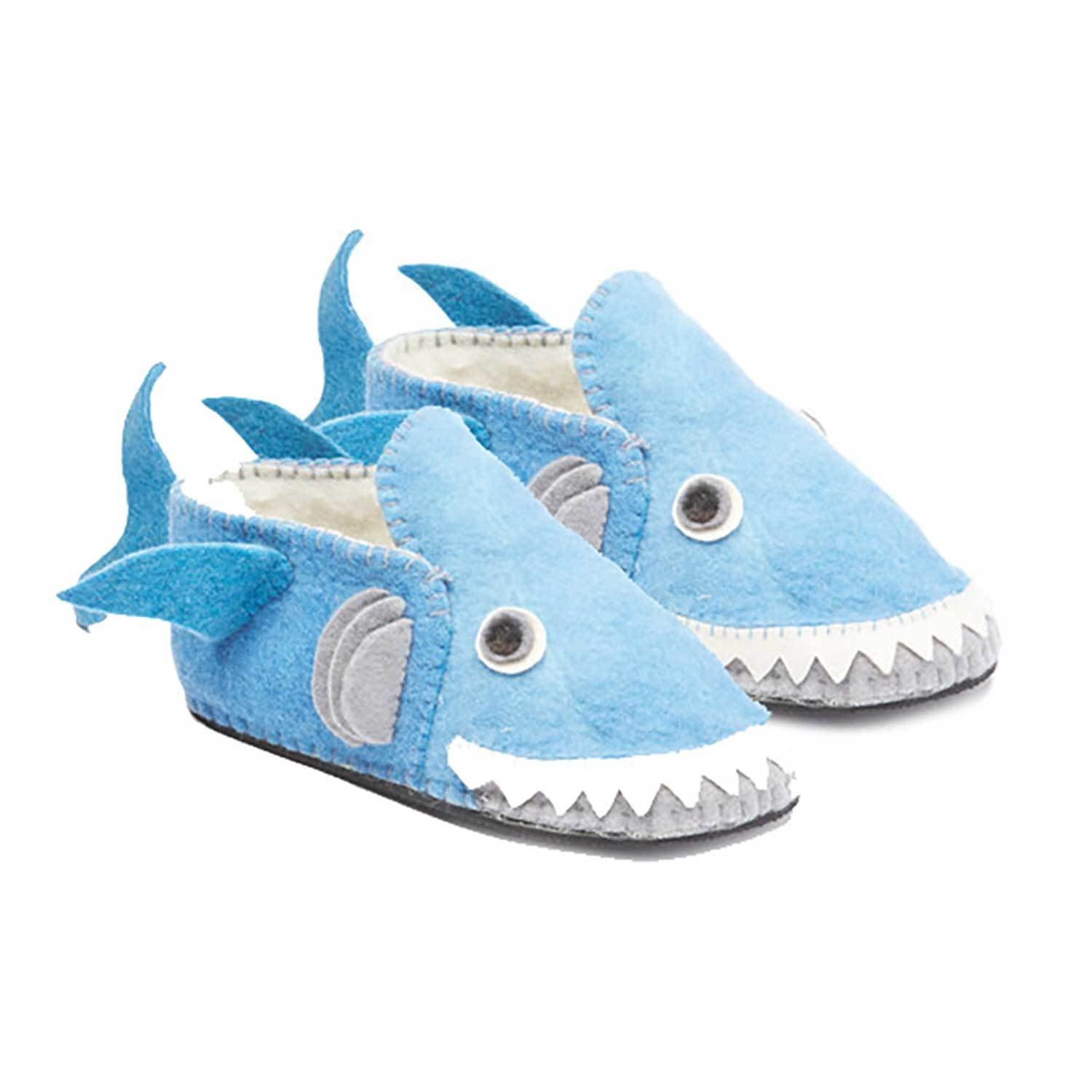 Blue Shark Slippers Adult - Silk Road Bazaar