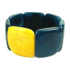 Accented Tagua Bracelet Midnight Handmade and Fair Trade
