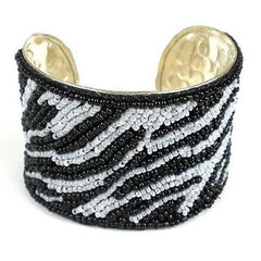 Animal Pattern Cuff - Zebra Handmade and Fair Trade