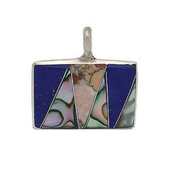 Abalone and Polished Stone Pendant Handmade and Fair Trade