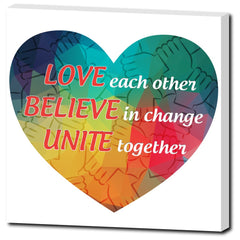 Love, Believe, Unite Canvas