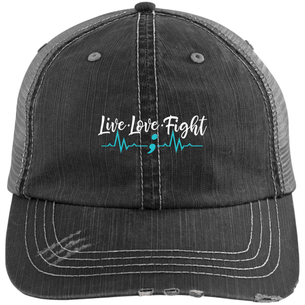 Suicide Awareness - Distressed Unstructured Trucker Cap