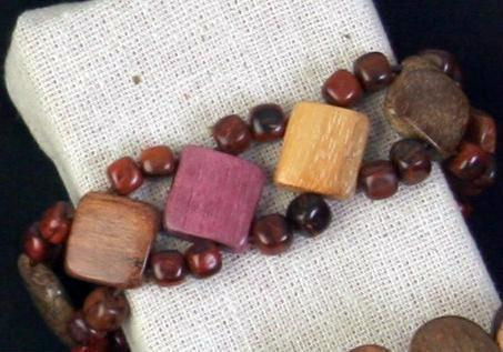 Wood Bracelet - Lynda - Natural Artist