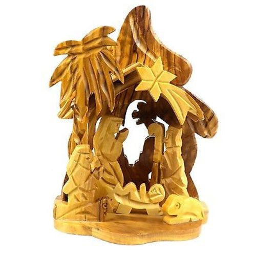 Tropical Design Olive Wood Nativity Handmade and Fair Trade