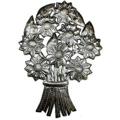 Bouquet of Flowers Metal Wall Art Handmade and Fair Trade