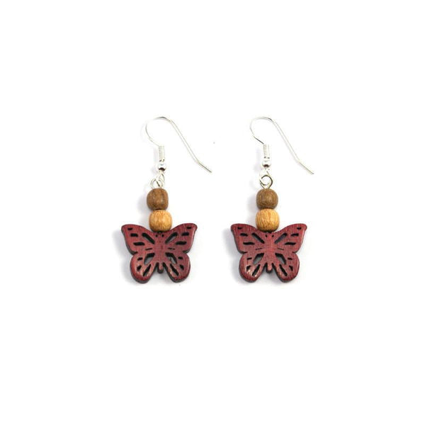 Wood Earrings - Butterfly - Natural Artist