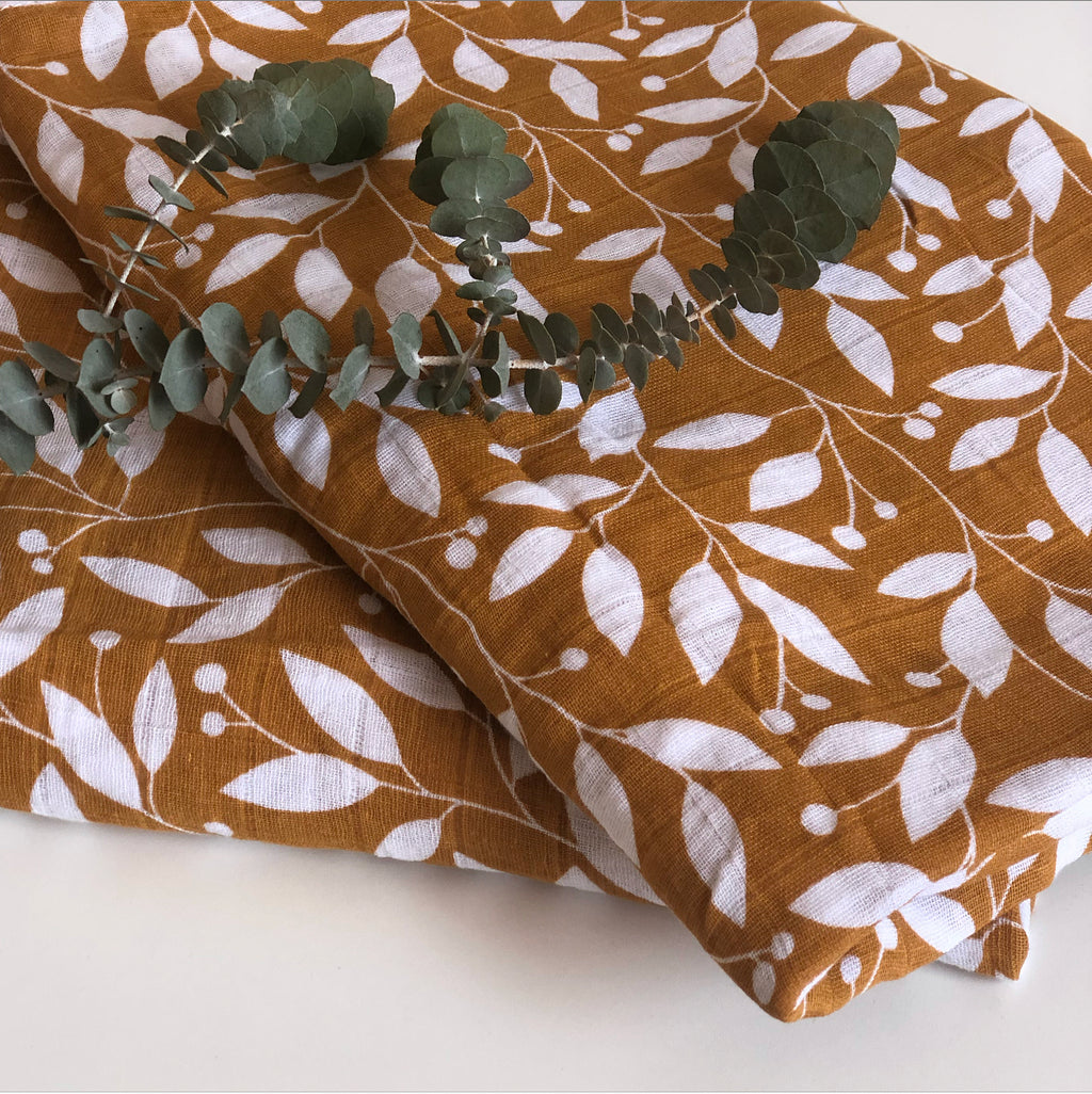 Muslin Wrap - Desert Leaves