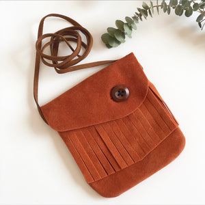 Suede Messenger Bag