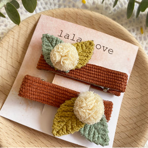 Autumn Flower Clip Set