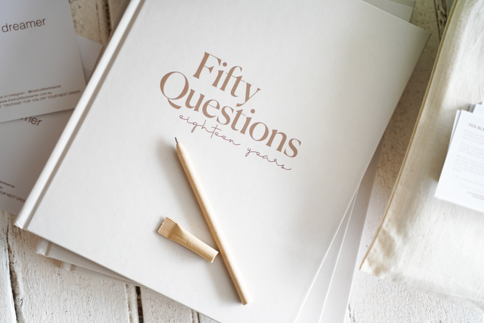 50 Questions - 18 Years Keepsake Book