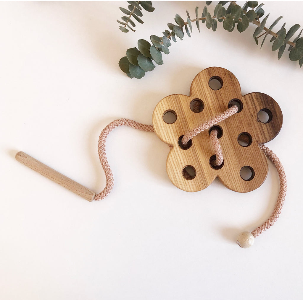 Wooden Lacing Toy - Flower