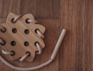 Wooden Lacing Toy - Sun