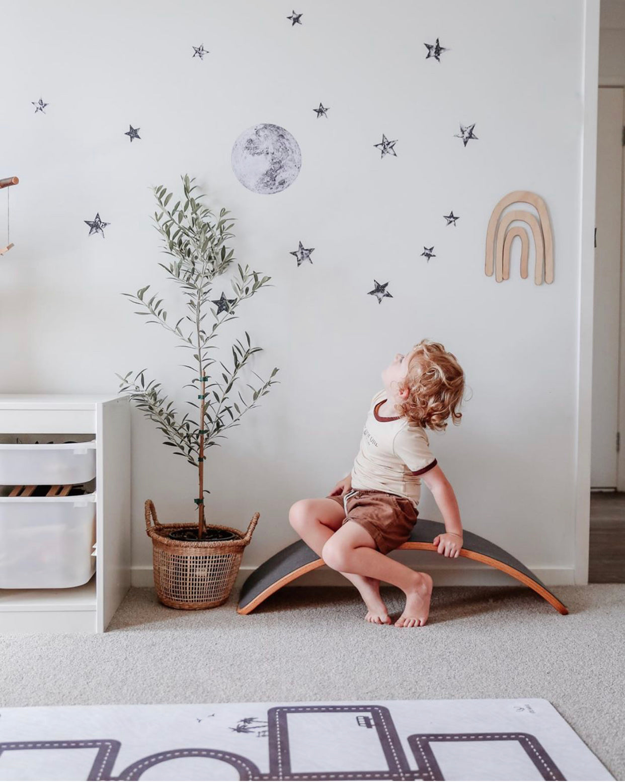 Fabric Wall Decals - The Moon and Stars Collection