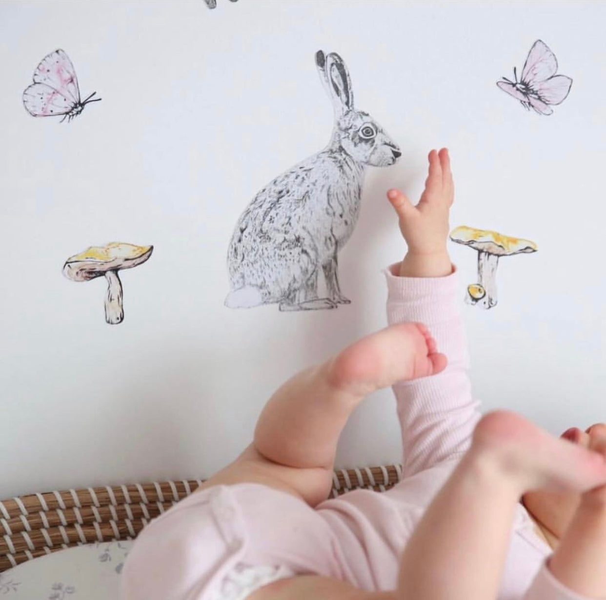 Fabric Wall Decals - Girl Woodlands