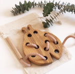 Wooden Lacing Toy - Lady Bug