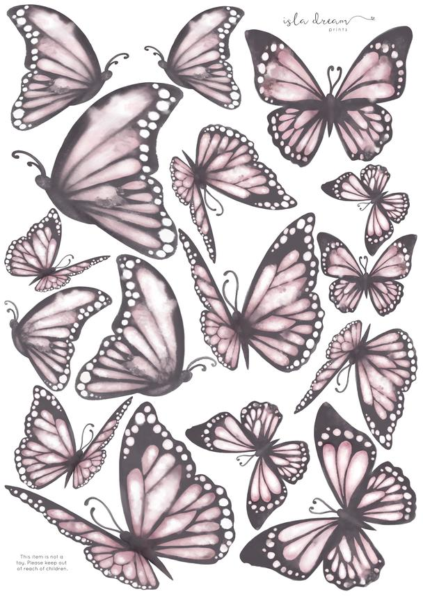 Fabric Wall Decals - 'Butterflies - the Originals'