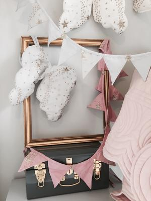 Glitter Stars Bunting - Rose Pink